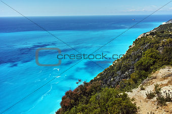 Amazing view of Gialos Beach, Lefkada