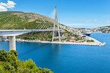Suspension bridge in the old town of Dubrovnik