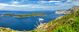 Panoramic view of a beautiful landscape in Dubrovnik