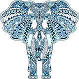 vector blue decorated Indian Elephant