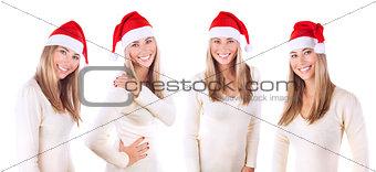 Beautiful Santa woman collage