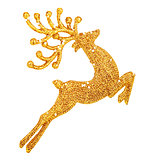 Beautiful golden reindeer decoration