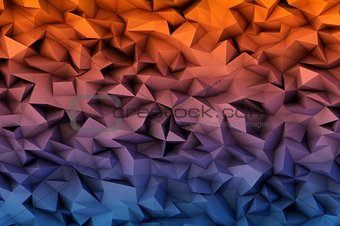 abstract background consisting of 3D triangles