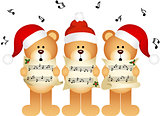 Christmas teddy bears choir singing