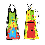 Sewing dress, sketch for your design