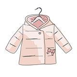Baby coat girl, sketch for your design
