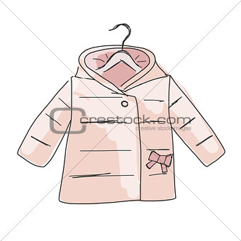 Baby coat girl, sketch for your design