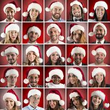 Happy christmas collage