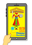 Ravana for Happy Dussehra mobile application sale promotion