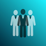 Vector businessman team icon