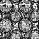 Seamless rounded pattern in the style of Maya