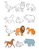 Six animals set