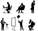 Businessmen silhouettes