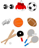 Sport items set
