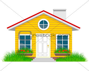 House with grassplot