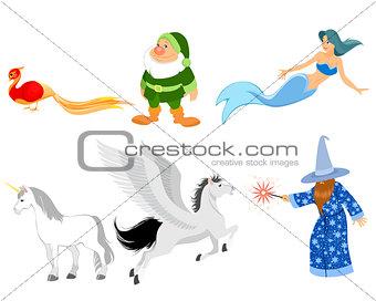 Six fairy-tale characters