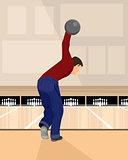 Boulingist playing bowling