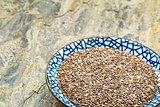 bowl of chiai seeds