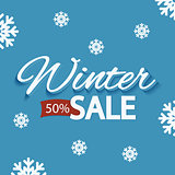 Winter discounts, promotional poster