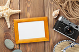 Travel and vacation photo frame and items