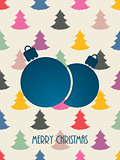 Christmas greeting with color scribbled christmastree background
