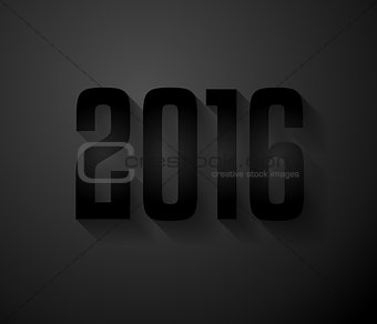 2016 New Year Background for modern seasonal card