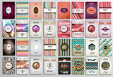 Vintage Styles brochure templates set with Labels.