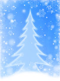 white christmas tree in blue