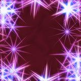 blue stars over violet background