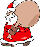 santa with sack on christmas