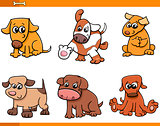 dog characters cartoon set