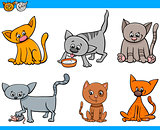 cats characters cartoon set
