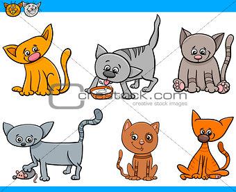 cats characters cartoon set