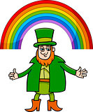 leprechaun and rainbow cartoon