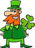 leprechaun and clover cartoon