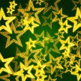 golden stars in green background