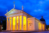 Cathedral of Vilnius in the evening, Lithuania.