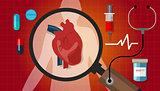 heart disease attack human health cardiology cardiovascular icon