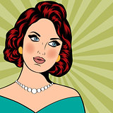Pop Art illustration of woman