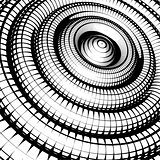 concentric tubes shaded with grid pattern black white