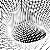 grid vortex tunnel in black and white