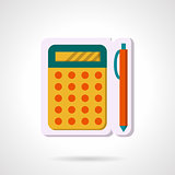 Colorful vector icon for mathematics