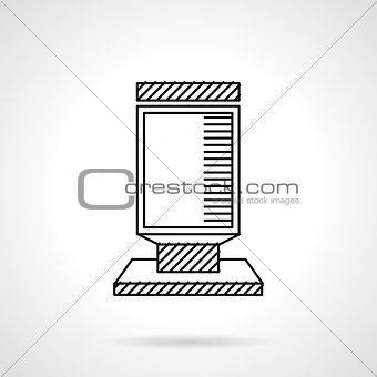 Citylight flat line vector icon