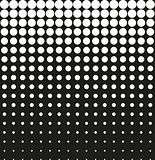Abstract background black halftone vector