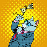 Business cat and money