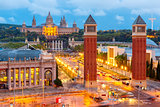 Placa Espanya in Barcelona, Catalonia, Spain