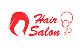 hair salon red icon