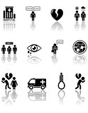 set of mental health icons