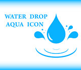 water drop aqua icon