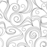 seamless abstract black swirl background